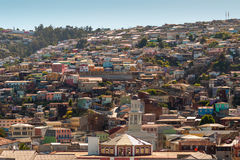 Valparaiso Hills. Colorful buildings on the hills of the UNESCO World Heritage city of Valparaiso, Chile Stock Photos