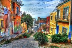 Valparaiso hills HDR edition royalty free stock image
