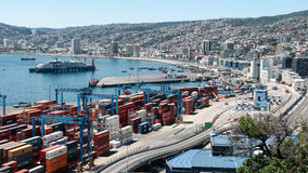 Valparaiso and its harbour - Chile Royalty Free Stock Photo