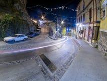 Valparaiso la nuit image stock