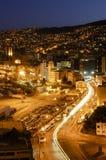 Valparaiso na noite Imagem de Stock Royalty Free