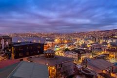 Valparaiso at Night Royalty Free Stock Photo