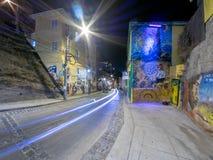 Valparaiso på natten Royaltyfri Bild