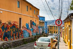 Valparaiso pejzaż miejski, Chile fotografia royalty free