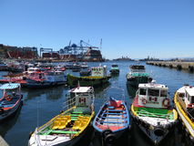 Valparaiso Port in Chile Stock Images