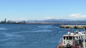 Valparaiso Port in Chile. Port of Valparaiso in Chile stock video