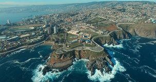 Valparaiso-` s Aereal Ansicht, Chile stock footage
