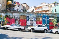 Valparaiso-Straßen-Ansicht Stockfotos