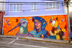 Valparaiso Street Art Graffiti Royalty Free Stock Photos