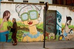 Valparaiso Street Art Royalty Free Stock Photography