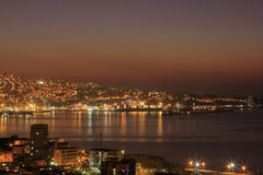 Valparaiso sunset Stock Photography