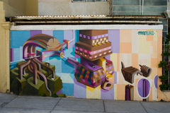 Valparaiso ulicy sztuka obrazy stock