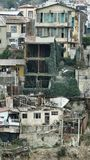 Valparaiso, was nicht gesehen wird, der Hinterhof stockfoto