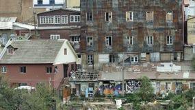 Valparaiso, was nicht gesehen wird, der Hinterhof lizenzfreie stockbilder