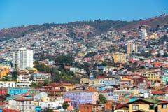 Valparaiso wzgórza Zdjęcia Royalty Free