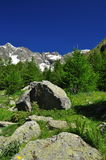 Valpelline, Aosta Valle, Italy. Mountain landscape in Summer Stock Photography