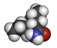 Valpromide seizures drug molecule (antiepileptic agent). Atoms are represented as spheres with conventional color coding: hydrogen