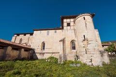 Valpuesta ancient monastery, origin of the spanish lenguage. Bur Stock Image