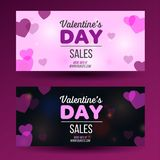 Valrntines day flyer with red background layout for printing royalty free illustration