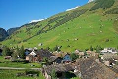 Vals,瑞士阿尔卑斯 库存照片