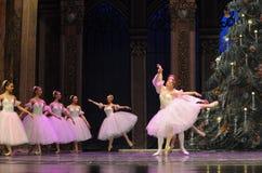 Vals de los copos de nieve el segundo reino del caramelo del campo del acto segundo - el cascanueces del ballet Imágenes de archivo libres de regalías
