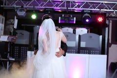Vals del baile de novia y del novio Imágenes de archivo libres de regalías