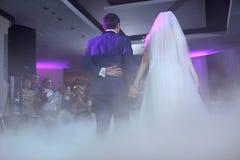 Vals del baile de novia y del novio Fotografía de archivo libre de regalías