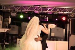 Vals del baile de novia y del novio Fotos de archivo libres de regalías