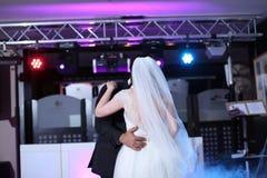 Vals del baile de novia y del novio Fotografía de archivo