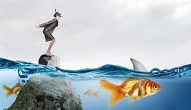 Vals risico voor uw zaken stock foto