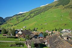 Vals, Swiss Alps Stock Photos