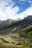 Vals village in switzerland alps Stock Image