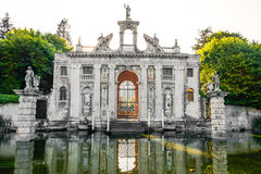Valsanzibio garden gate water pond entrance of Villa Barbarigo euganean hills Royalty Free Stock Photos