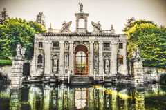 Valsanzibio garden gate water pond entrance of Villa Barbarigo i Stock Images