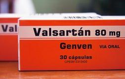 Valsartan главным образом использовано для обработки высокого кровяного давления стоковые изображения rf