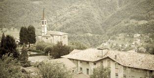 Valsassina,伦巴第,意大利 图库摄影