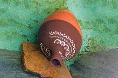 Valse antieke ceramische aardewerkschat Stock Foto