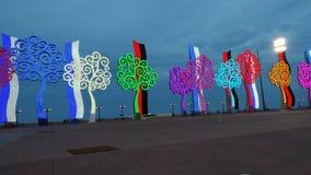 Valse bomen, het kunstmatige leven, aard Royalty-vrije Stock Afbeeldingen