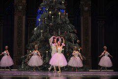 Valse des flocons de neige le deuxième royaume de sucrerie de champ d'acte deuxièmes - le casse-noix de ballet Photos libres de droits