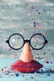 Valse glazen, neus en mond stock afbeeldingen