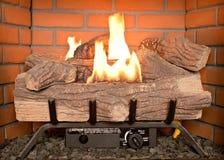 Valse logboekbrand Royalty-vrije Stock Afbeeldingen