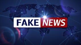 Valse nieuws vector het uitzenden televisieachtergrond royalty-vrije illustratie