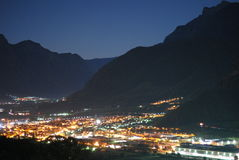 Valsugana by Night Royalty Free Stock Images
