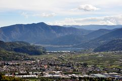 This is the Valsugana view from Buss, Pergine Valsugana. Trentino Alto Adige. Italy Stock Photos