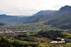 This is the Valsugana view from Buss, Pergine Valsugana. Trentino Alto Adige. Italy Royalty Free Stock Photos