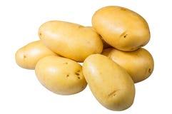 Valt nytt för vita potatisar isolerat arkivfoto