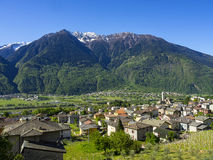 Valtellina  Italy. A landscape of Valtellina valley in Italy Royalty Free Stock Photography