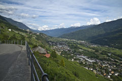 Valtellina panorama - Italy. Valtellina valley panorama, Northern Italy Stock Images