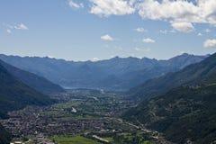 Valtellina panorama - Italy Stock Image