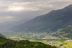 Valtellina, panoramic view Stock Photo